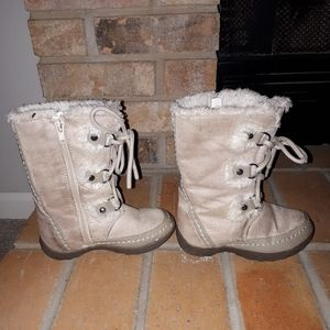 Nine west girl boots size 13.